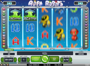 Alien Robots slotmaskinen SS-01