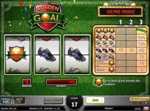 Golden Goal slotmaskinen SS-07